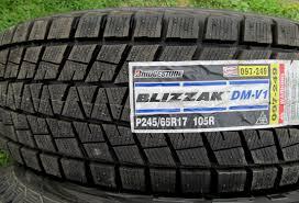 100 Truck Snow Tires Bridgestone Blizzak DMV1 24565R17 105R Winter Tires