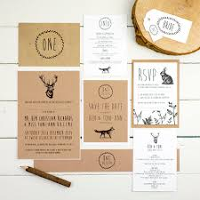 Wedding Invitation Enchanted Forest By Russet And Gray