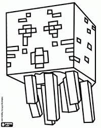 Printable Minecraft Ghast Coloring Page