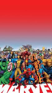 Marvel Family iPhone 5 SE Wallpaper