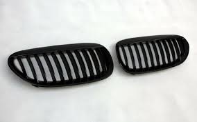 grill radiator grill set fits bmw e63 e64 6er black gloss kidney replacement