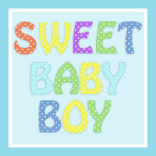 Clipart Sweet Baby Boy Typography