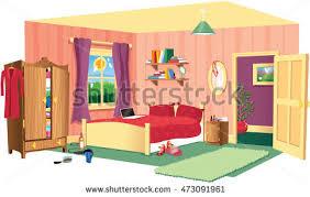 some kid bedroom illustration cartoon children stock vector