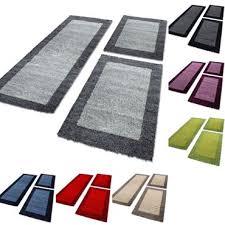 paket bettumrandung teppich shaggy schlafzimmer läuferset hochflor langflor 3 teile