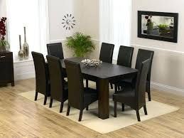 Walmart Dining Room Chair Covers by Black Faux Leather Dining Room Chairs Dark Brown Dining Table And