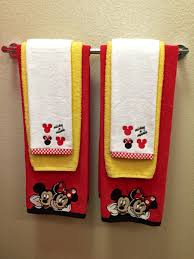 Mickey Mouse Bathroom Images by Mickey And Minnie Mouse Towel Sets Red Towel Black By Kadydesigns