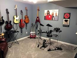Guitar Room Ideas Music Decor With Unique Hangers Practice