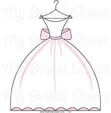 Clip Art Wedding Dress Clipart 1