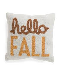 Tj Maxx Christmas Throw Pillows by 16x16 Hand Hooked Hello Fall Pillow Printed Pillows T J Maxx