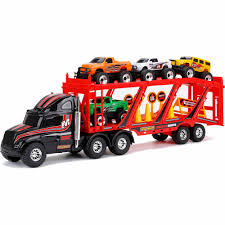 100 Toy Car Carrier Truck Adventure Wheels 22 Free Wheeling Rier With S And