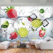 details zu vlies fototapete küche tapete obst 3d effekt citronen wasser wandbilder