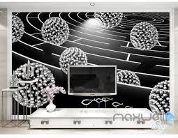 3D Modern Maze Ball 5D Wall Paper Mural Art Print Decals Living Room Decor IDCWP