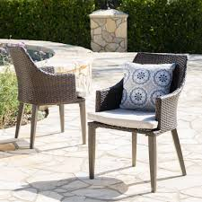 Shop Hillhurst Outdoor Wicker Dining Chairs With Cushions (Set Of 2 ... Red Barrel Studio Dierdre Outdoor Wicker Swivel Club Patio Chair Cosco Malmo 4piece Brown Resin Cversation Set With Crosley Fniture St Augustine 3 Piece Seating Hampton Bay Amusing Chairs Cushions Pcs Pe Rattan Cushion Table Garden Steel Outdoor Seat Cushions For Your Riviera 4 Piece Matt4 Jaetees Spring Haven Allweather Amazoncom Festnight Ding Of 2