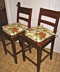 Image Of Fascinating Kitchen Chair Pads French Country That Using Floral Fabric Design Patterns For Wooden