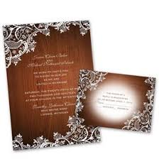 Fall Wedding Invitations Lace Corners Invitation With Free Response Postcard