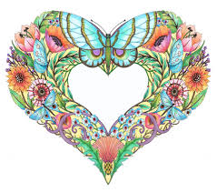 Set Of Beautiful Coloring Pages Called Open Hearts 20 On Etsy