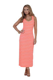 womens casual fitted striped scoop neck sleeveless racerback long