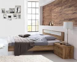 schlafzimmer set 3 teilig bett 180 x 200cm plankeneiche glasweiß 15626