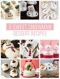 9 Sweet Snowman Dessert Recipes