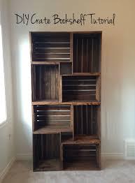 10 SO Cool DIY Bookshelf Ideas Crate BookshelfWood