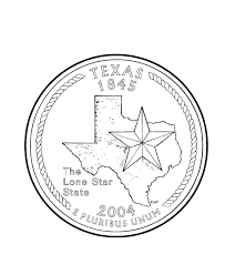 Texas State Quarter Coloring Page
