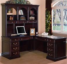 Black Writing Desk With Hutch by L Desk With Hutch U2014 All Home Ideas And Decor