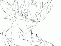 Goku Super Saiyan 4 Coloring Pages Drawings Of Dragon Ball Z