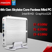 pc bureau wifi msecore i3 6100u i5 6200u i7 6500u fanless mini pc windows 10