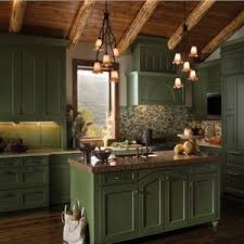 Nice Shade Of Green Country Rustic Kitchen By Ken Kelly