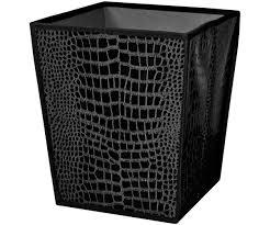 poubelle de chambre corbeille poubelle papier bureau chambre deco croco chic noir