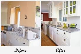 Before And After An Affordable Galley Kitchen Makeover