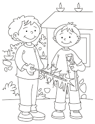 Diwali Coloring Pages 7