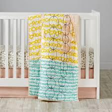 Mod Botanical Crib Bedding Pink