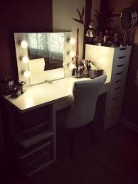 Makeup Vanity Table With Lights Ikea by Diy Vanity Ideas Ikea Alex And Mickey Desk Diy Makeup Vanity