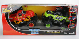 Amazon.com: New Bright R/C Monter Trucks Set Of 2, Damage Control ... New Bright Rc Monster Jam Truck Grave Digger Toysrus 124 Ff Twin Pack Colors And Styles Rc Trucks Youtube Radio Control 18 Scale W Buy El Toro 115 40mhz Amazoncom Sf Hauler Set Car Carrier With Two Mini Walmartcom 110 24 Ghz Grave Digger Kids Toy