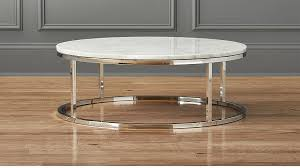 smart low marble coffee table cb2