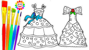 Coloring Pages Dresses For Girls