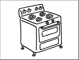 304x229 Clip Art Basic Words Stove BampW Unlabeled I Abcteach