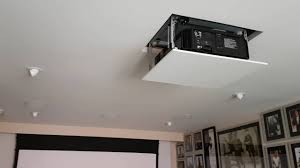 Install Projector Mount Drop Ceiling by Jvc Dla X7000 Projector Custom Install Youtube