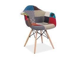 esszimmerstuhl schalenstuhl stuhl patchwork gepolstert grau bunt buche modern
