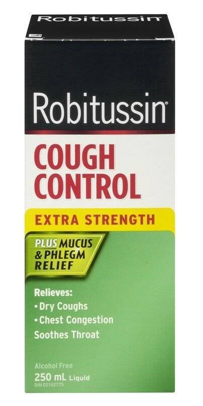 Robitussin Extra Strength Cough Control Plus Mucus Relief 2 x 250ml C