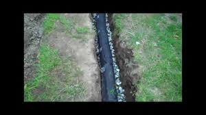 2 Perforated Drain Tile by How To Install A Drainage Pipe Youtube