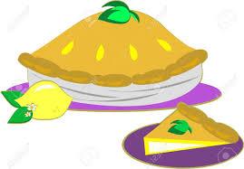 Lemon Pie and a Slice Stock Vector