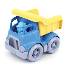 100 Toy Moving Truck Green S Dumper With Figure BPA Free 100 Recycled