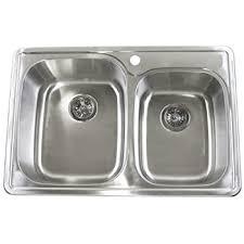 kraus ktm33 33 inch topmount 50 50 bowl 18 stainless