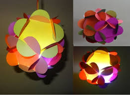 Paper CraftsHome Decoration Ideas 3D Flower Ball Lantern With How