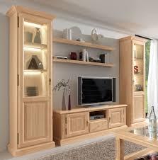 wohnwand wohnzimmer schrank set casapino 5 teilig 2 vitrinen tv schrank 2 wandborde