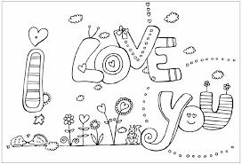 Lyontarotden I Love You Coloring Pages