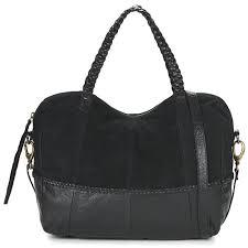 pieces cameo leather bag noir sacs à porté épaule femme