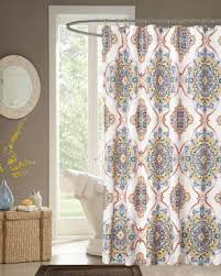 Henna Medallion Fabric Shower Curtain Interdesign – Curtainshop